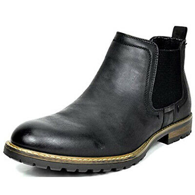 $34.49 • Buy Men's Classic Leather Dress Casual Chelsea Elastic Slip On Ankle Boots 6.5-15
