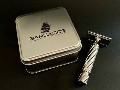 $300 • Buy Barbaros TR-2 Double Edge Polished Stainless Steel Safety Razor
