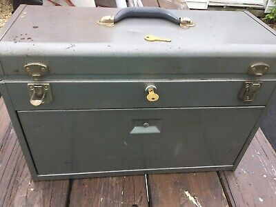 $162.50 • Buy KENNEDY 520 Machinist Tool Box - 7 Drawer WITH 2 KEYS - NICE & ITEMS INCLUDED