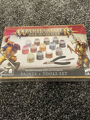 £24.99 • Buy Warhammer Age Of Sigmar Paint + Tools Set  Games Workshop New Release