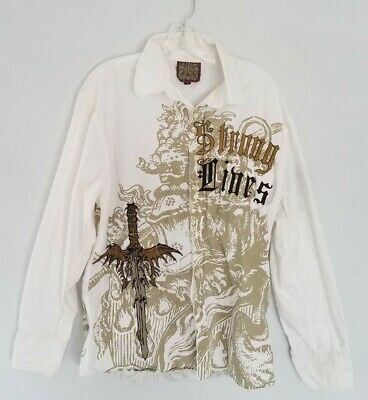 $28.90 • Buy Roar Signature Men's Size XL Embroidered Long Sleeve Button Down Shirt White