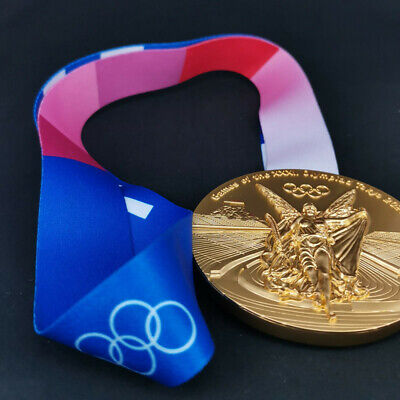 £14.99 • Buy 2020 2021 Japan Tokyo Olympic Game Replica Gold Medal With Ribbon 1:1 Size UK