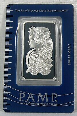 £38.75 • Buy 1 Oz. Pamp Suisse Lady Fortuna Silver Bar .999 Fine Silver In Sealed Assay Card