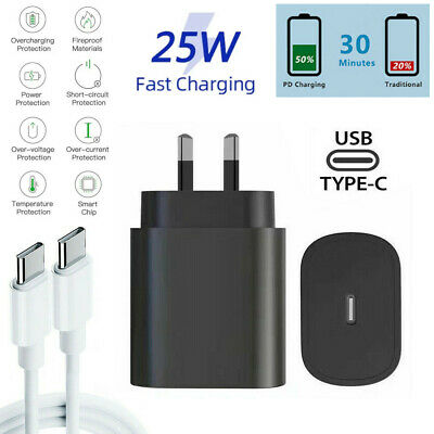 AU9.95 • Buy 25W Super Fast Charger Power Adapter For Samsung Galaxy S20 S21 Ultra Note 10 20