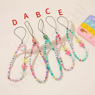 £2.71 • Buy Ins Clay Beaded Mobile Strap Phone Charm Phone Chain 2021 Telephone Jewelry.