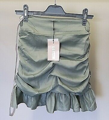 £4 • Buy Missguided Satin Ruched Front Mini Skirt, Mint Green, Size 8, Tags In Place