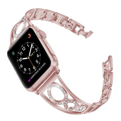 AU18.79 • Buy Luxury Bling Diamond Band Strap For Apple Watch Series 6 5 4 3 SE 44/42/40/38MM