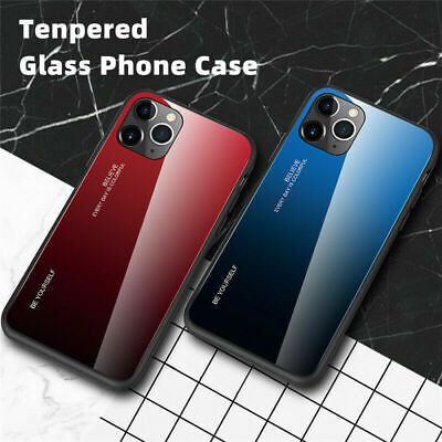 AU9.86 • Buy Tempered Glass Case For IPhone 6 7 8 Plus X XR XS 11 12 Pro Max Slim Back Cover