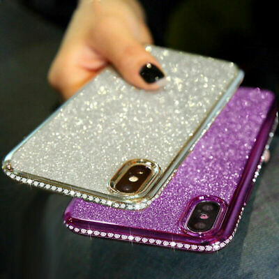 AU9.36 • Buy Diamond Edge Bling Case For IPhone 6 7 8 Plus 12 11 Pro X XS XR Silicone Cover