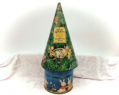£249.99 • Buy Mabel Lucie Attwell's Fairy Tree Biscuit Money Box-Vintage Tin-William Crawford