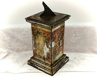 £59.99 • Buy Sundial-Figural Vintage Biscuit Tin By William Crawford And Sons-1926