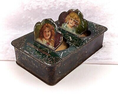 £149.99 • Buy Unusual Rare Rowntrees Cocoa Antique/Vintage Tin-Figural With 2 Girls