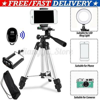 AU11.02 • Buy Professional Camera Tripod Stand Mount + Mobile Phone Holder +Carry Bag Kit 2021