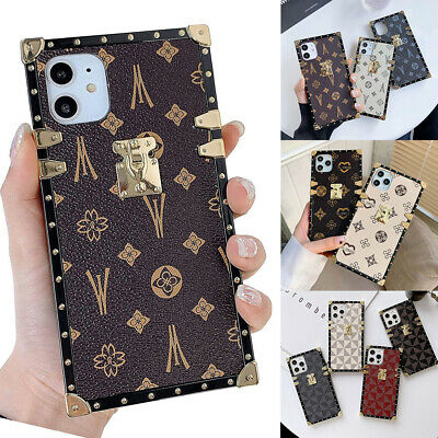 AU10.33 • Buy For IPhone 12 13 11 Pro Max XS 6 7 8 Luxury Retro Leather Soft Square Case Cover