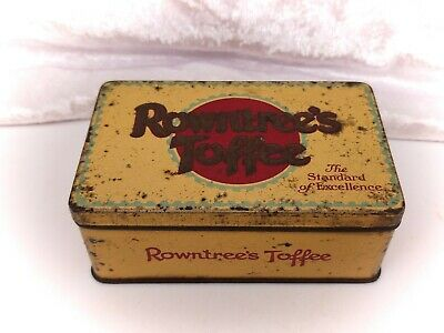 £11.99 • Buy Vintage Tin-Rowntrees Toffee-Chocolate/Sweets/Confectionery/Advertising