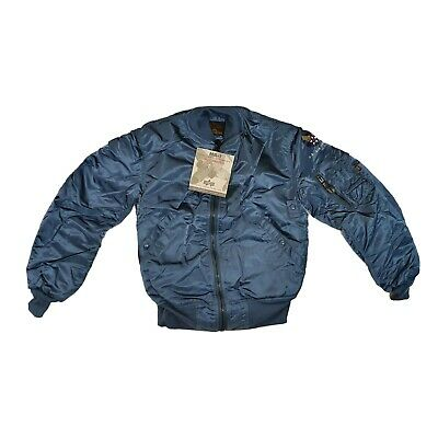 £99.95 • Buy Alpha Industries MA1 Jacket US Flight Bomber Army Military Air Force Blue Small