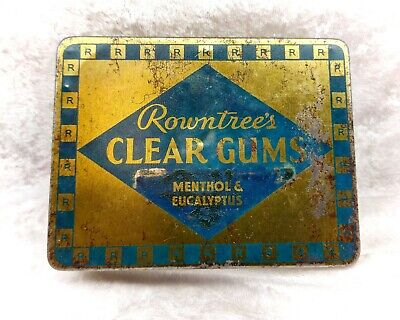 £11.99 • Buy Vintage Tin-Rowntrees Clear Gums-Menthol/Sweets/Confectionery/Advertising