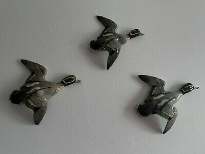 £2000 • Buy Beswick Teal Flying Ducks 1530- 1, 2 And 3 Wall Plaques (three In Total) Vintage
