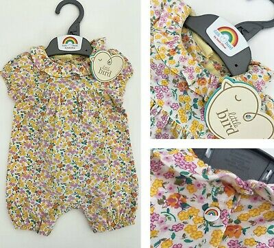 £4.95 • Buy MOTHERCARE Baby Girls Romper Short Collared Little Bird Jools Oliver Floral NEW
