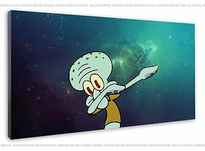 £38.99 • Buy Squidward Spongebob Dab Dance Outer Space Canvas Print Wall Art Framed