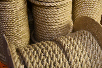 £1.23 • Buy 100%Natural Jute Hessian Rope Cord Braided Twisted Boating Sash Decking Garden