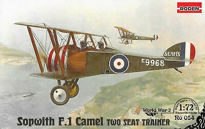 £10.99 • Buy Roden 1/72 Sopwith F1 Camel 2 Seat Trainer 054