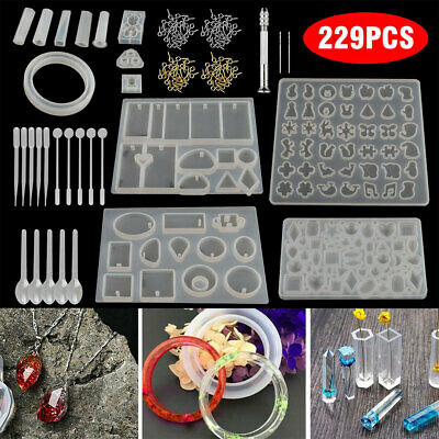 £6.77 • Buy 83Pcs DIY Resin Casting Mold Tool Kits Silicone Making Jewelry Pendant Mould UK