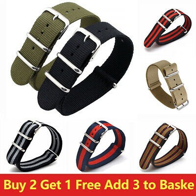 £3.79 • Buy Watch Strap Band Army Military Divers  Mens 18mm 20mm 22mm 24mm Unisex Style