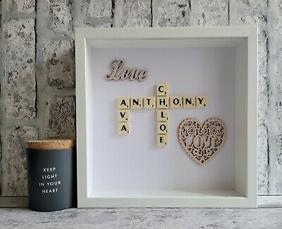 £25 • Buy 2. Scrabble Picture Frame Love Couples Valentine Engagement Wedding Anniversary