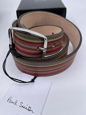 £75 • Buy Paul Smith Men Vintage Belt Colour 100% Leather Made In England 36' With Box