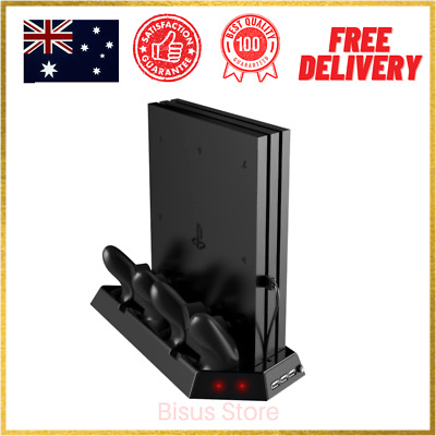 AU39.99 • Buy Vertical Stand For PS4 Pro With Cooling Fan Controller Charging Station Console