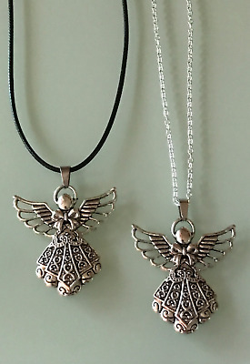 £3.99 • Buy Protection Anxiety Relief Guardian Angel Pendant Cord/Silver Necklace Chain