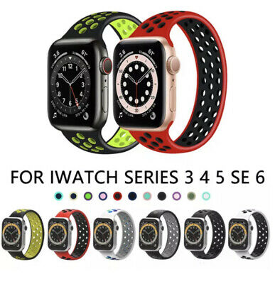 AU7.49 • Buy For Apple Watch Band Series SE 6 5 4 3 2 Sport Solo Loop Silicone Elastic Strap