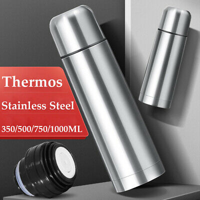 AU30.11 • Buy 1PC New Thermos Flask Stainless Steel Insulated Vacuum Camping Hiking Hot Cold