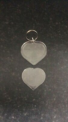 £0.99 • Buy  Blank Heart Shaped Keyring's Make Your Own Gifts.ideal  Love Token.blanks.