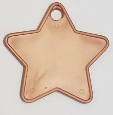 £2.99 • Buy Rose Gold Plastic Star Shape Balloon Weights 5 To 100 - Art Crafts Balloon Decor