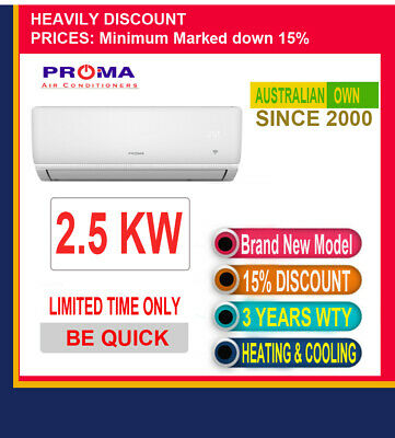 AU529.75 • Buy 2.5 KW Split System Rev Cycle Air Conditioner Heat & Cool---