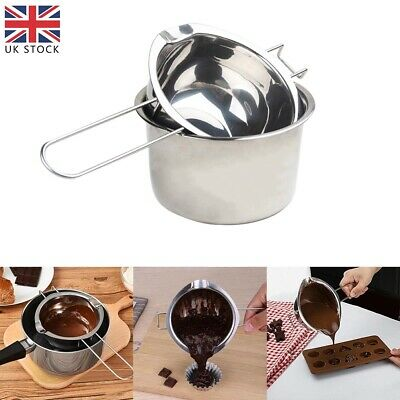 £11.80 • Buy 2Pcs Stainless Steel Wax Melting Pot Double Boiler For DIY Candle Soap Making UK