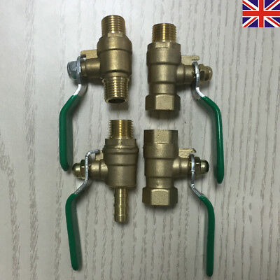 £3.75 • Buy BSP Lever Ball Valve Female  Male Various Sizes 1/4''-1''Hose Tail End Connector