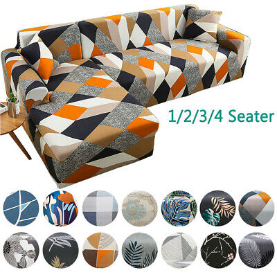 AU12.99 • Buy Sofa Covers Stretch Fitted Lounge Slipcover Protector Couch Cover 1 2 3 4 Seater