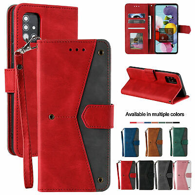 AU15.38 • Buy Leather Wallet Case For Samsung S21 S20 Ultra Plus Note 20 S10 S9 S8 Flip Cover