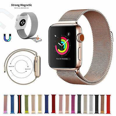 AU9.39 • Buy Magnetic Stainless Milanese Apple Watch Band Loop Strap For Series 1 2 3 4 5 6 S