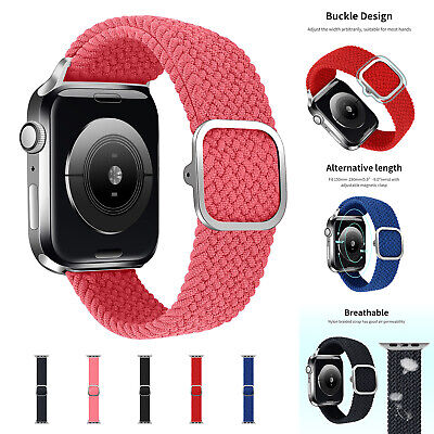 AU14.96 • Buy Nylon Braided Solo Loop Strap Band For Apple Watch Series 6 SE 5 4 3 42/40/44 MM