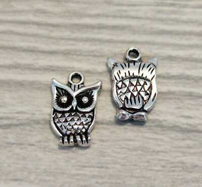 £2.25 • Buy 15 X Silver Coloured Owl Charms