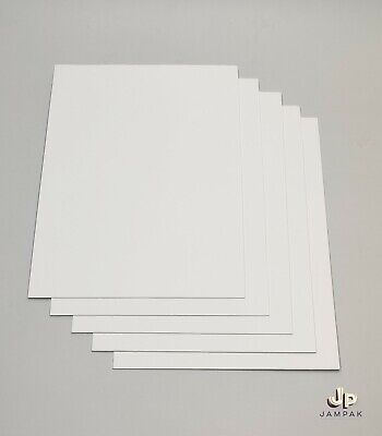 £1.50 • Buy A4 WHITE CARD SHEETS BOARD 1mm THICK PAPER MOUNT MODEL ART CRAFT KRAFT CARDBOARD