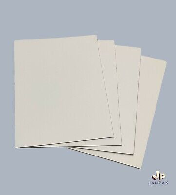 £1.50 • Buy A5 Coated White Card Sheets Board 1mm No Flex Extra Thick Mount Craft Kraft