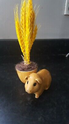 £12.99 • Buy Guinea Pig Egg Cup By Quail With Wheat Decoration