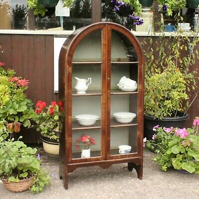 £148 • Buy Vintage Art Deco Arch Topped Glazed China Display Cabinet