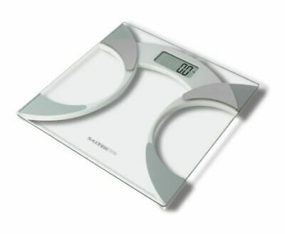 £14.99 • Buy Salter 9141 Wh3r Glass Body Fat Analyser Bathroom Scale
