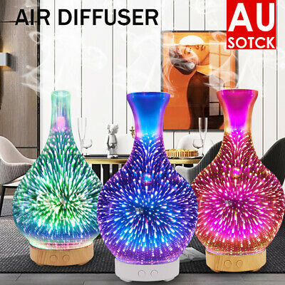 AU30.39 • Buy Firework Aromatherapy Diffuser 3D Aroma Essential Oils Ultrasonic Air Humidifier